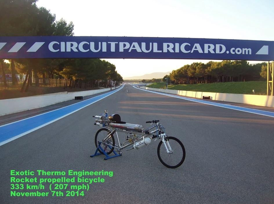 Exotic Thermo Engineering Rocket Bike Official Video 207 Mph