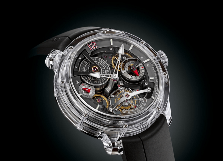 This $1.28 million watch is made of transparent sapphire