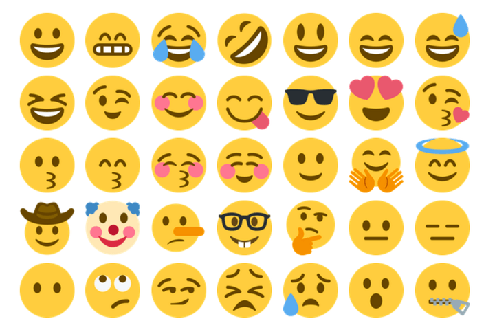 A selection of the new emojis supported by Twitter