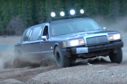 Watch This Lincoln Town Car Drive Where No Limo Was Meant To Gotech