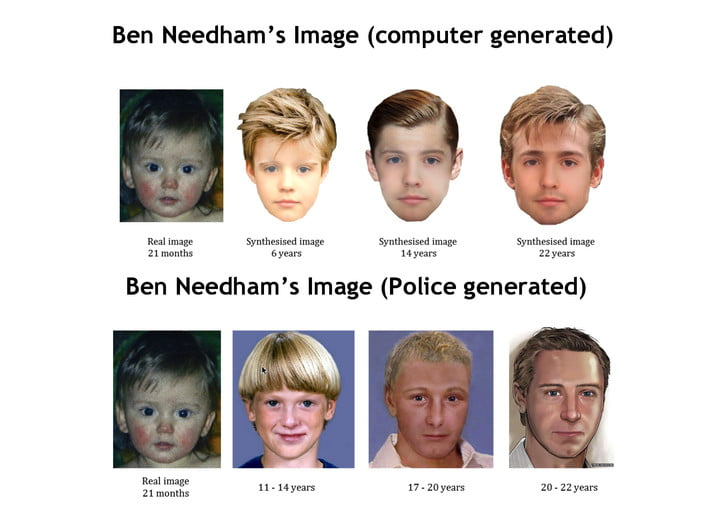 New algorithm predicts how faces can change, could help find missing persons