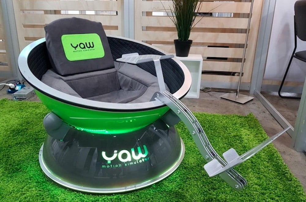 Meet Yaw VR, a Motion Simulator Pod for Your VR Headset   Digital Trends