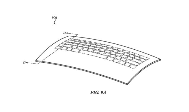 apple transformable glass keyboard macbook patent screen shot 2019 01 31 at 5 16 00 pm