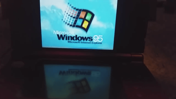 The Nintendo 3DS XL can run Windows 95