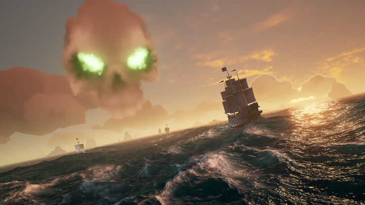sea of thieves press skull cloud