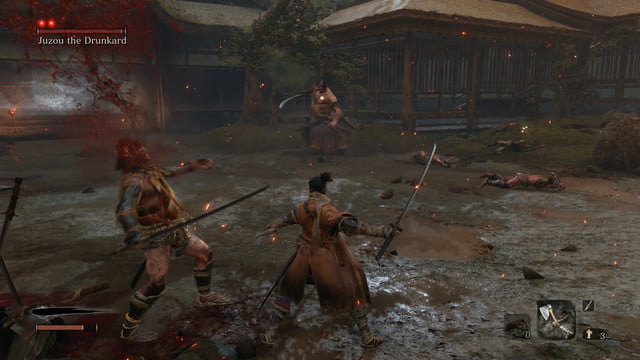 Clear out regular enemies first | How to beat Jouzou The Drunkard in Sekiro: Shadows Die Twice