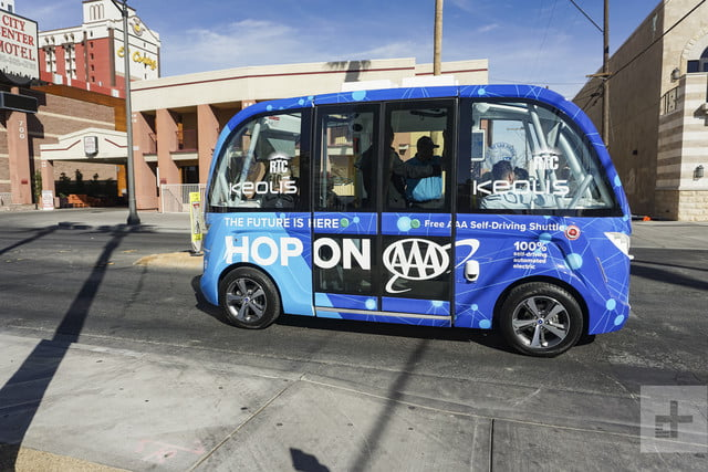 self driving bus crash vegas account 14980