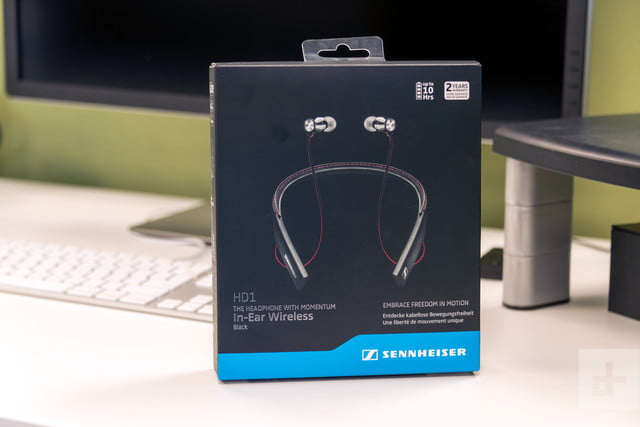 sennheiser hd1 ear wireless headphones box