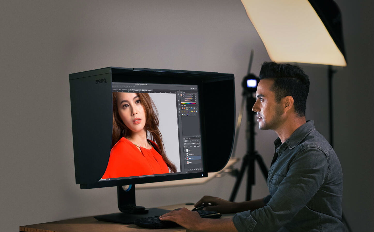 best monitor for photo editing shading hood2