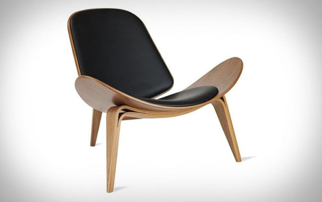 Shell Chair Features Danish Design And Mid Century Modern Style