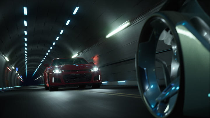 epic games unreal engine 4 powers new chevrolet car customizer shot 06 final tunnel in