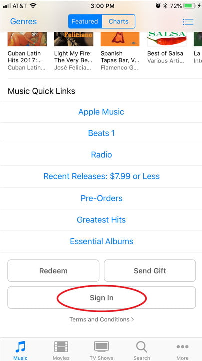 how to cancel apple music sign in itunes