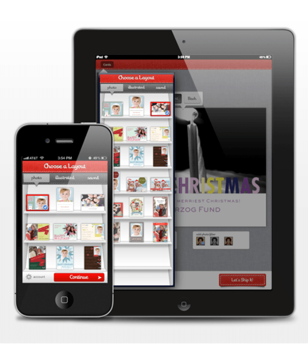 Turn to web and mobile apps for your holiday greeting cards this mobile ecards m4hsunfo