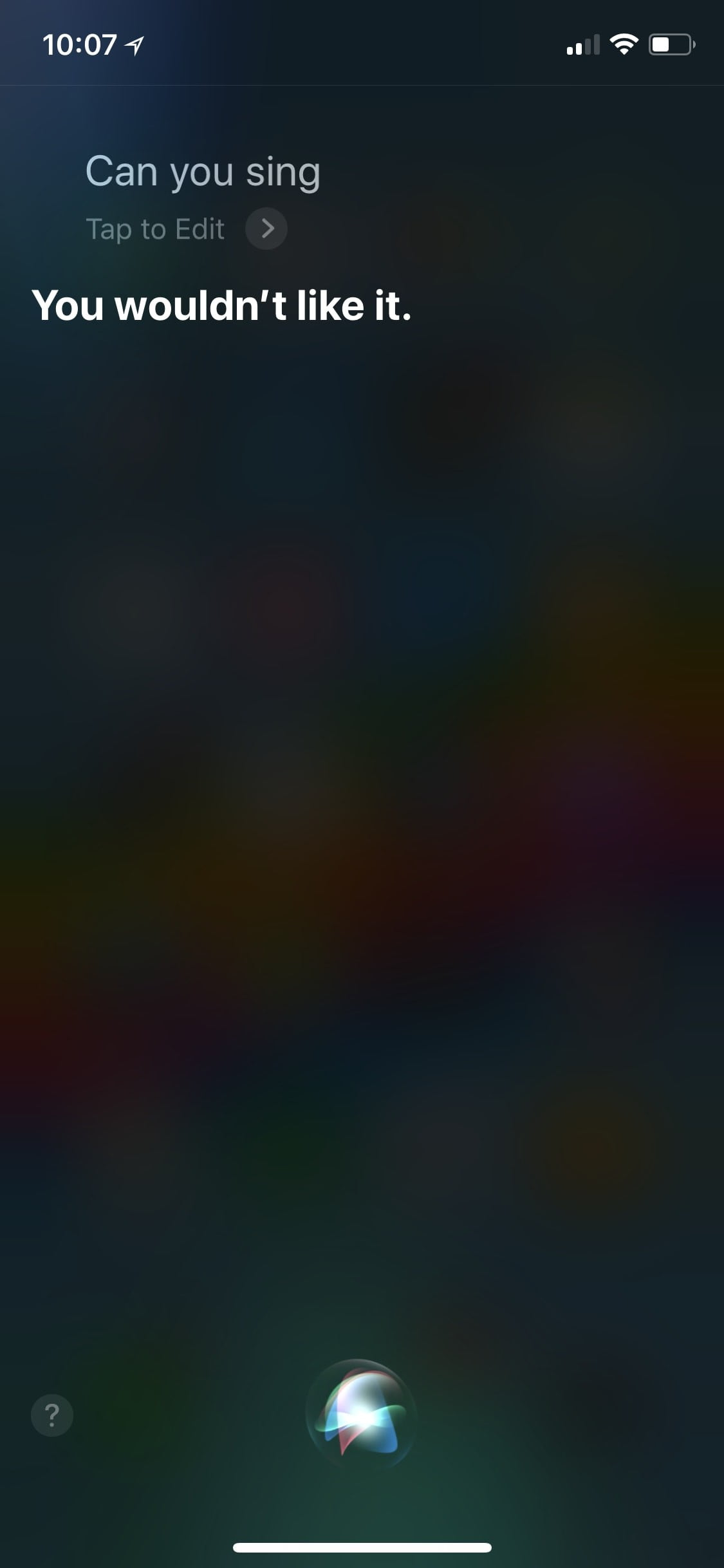 Funny Questions To Ask Siri Sing 2