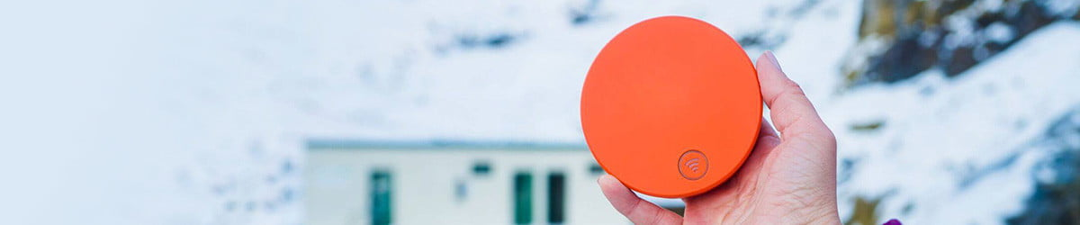 This orange puck keeps you online in any country, with one hidden catch