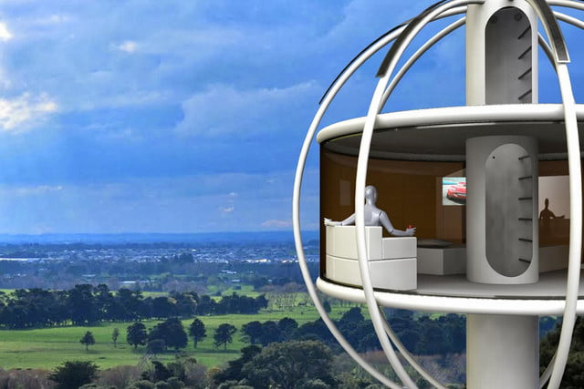 skysphere is a voice controlled man cave 33 feet in the air asd
