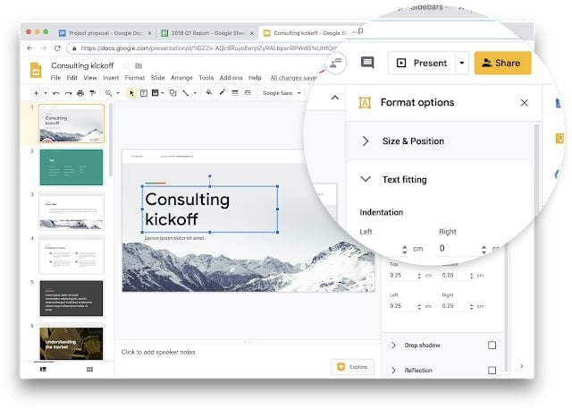 Google is giving its G Suite web apps new touches of visual improvements