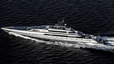 Silver Fast Yacht Exudes Luxury As It Sails Across The Sea Digital