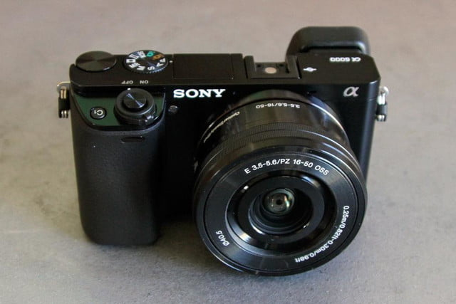 sony unveils alpha a6000 mirrorless camera 6000 front
