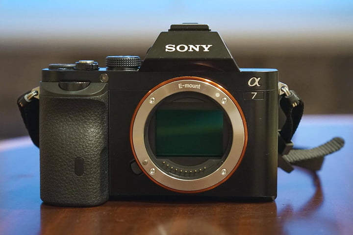Sony Alpha A7 front e-mount