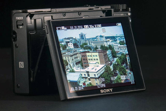 Sony Cybershot RX100 Mark III review rear LCD angle