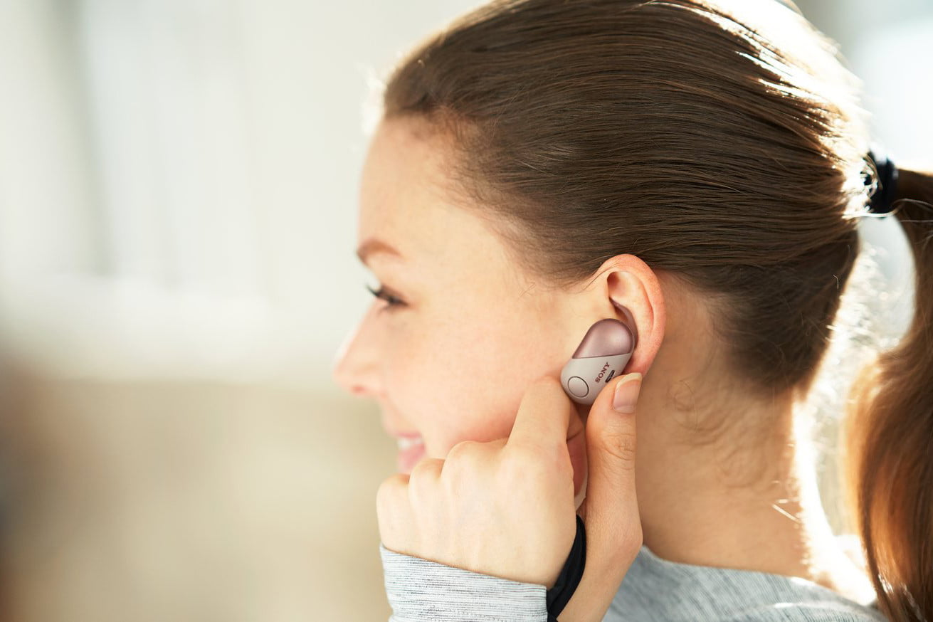 Sonys New Line Of Wireless Earbuds Target The Athletic And Active Earphone Sony Sp 700n Digital Trends
