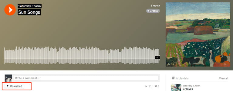 How to download songs from SoundCloud