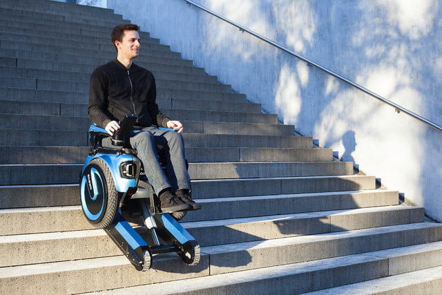 No ramp? No problem, for this stair-climbing electric wheelchair