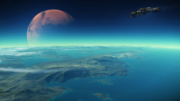 Star Citizen planet from space