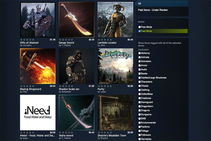 Valve Now Allows Creators To Sell Mods On Steam | Digital Trends