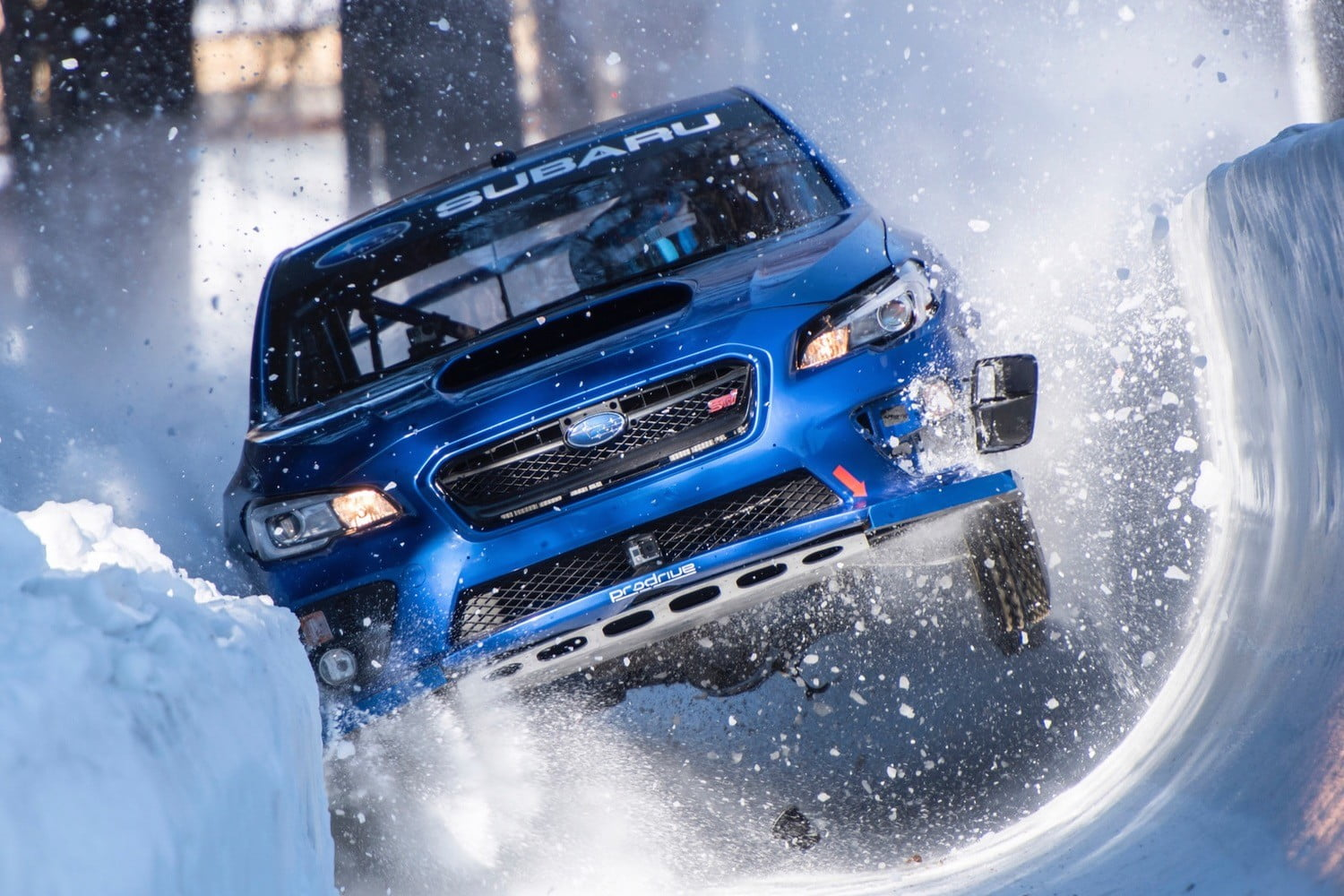 Subaru s wrx sti takes on an olympic bobsled run and the results aren t pretty