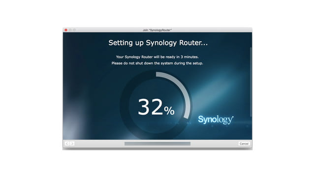 synology rt2600ac review router setup screen