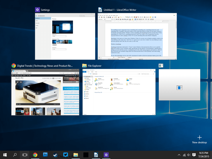 A Guide To Windows 10\u0027s Task View And AeroSnap Features | Digital Trends