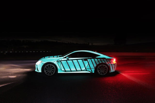 lexus rc f glowing heartbeat paint job pictures video techly lumilor coupe 3