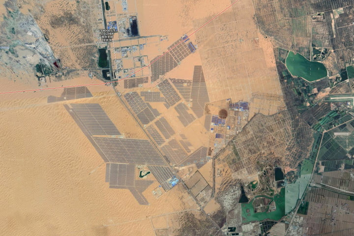 worlds largest solar farms tengger desert park