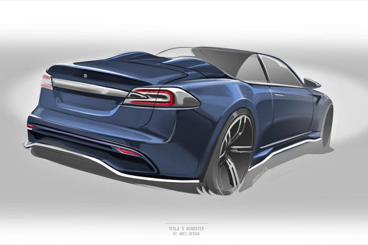 Ares turns the Tesla Model S into a two-door roadster with Italian flair