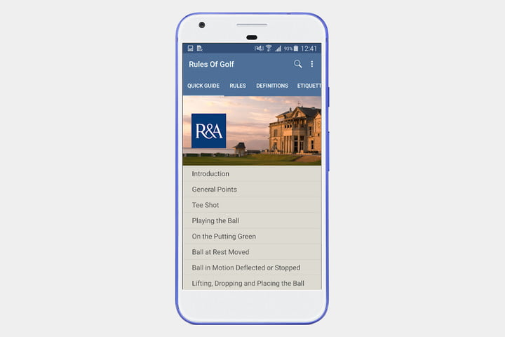 The R&A Rules of Golf