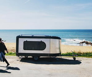 Tipoon is a tiny pop-up camper that triples in size