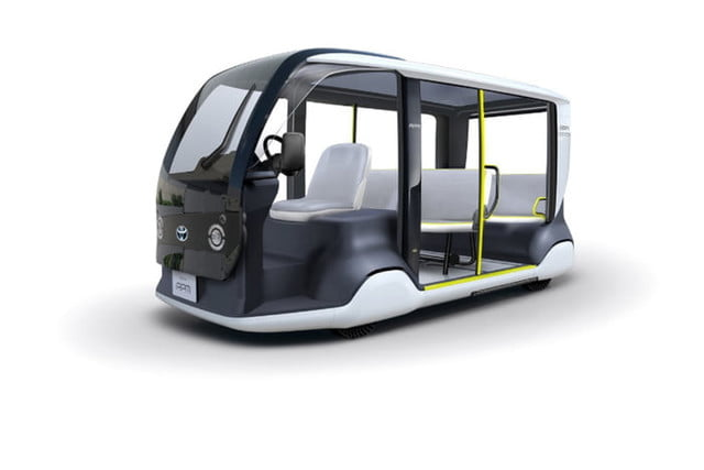Toyota's futuristic golf cart will transport people around at the 2020 Olympics