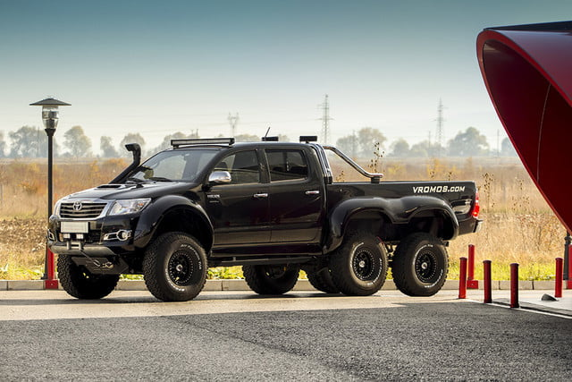 Try Off Roading In This Six Wheeled Toyota Hilux Digital Trends