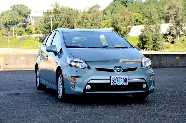 2012 toyota prius plug in plugin exterior front angle