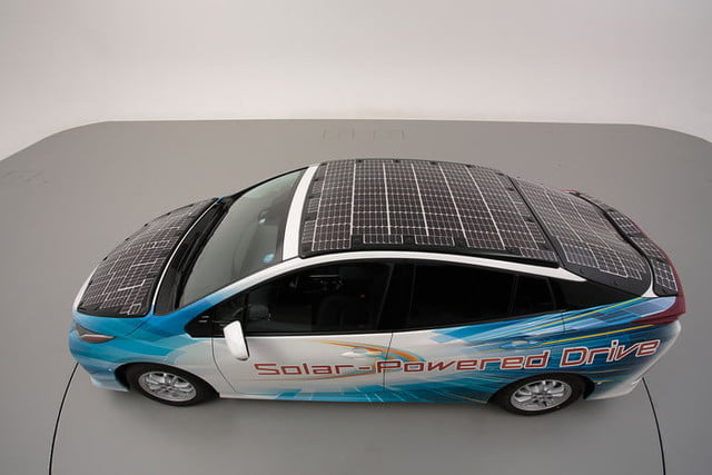 Toyota has covered a Prius in solar cells to add 27 miles to its range