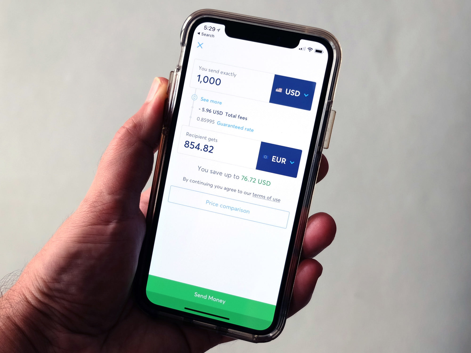 Transferwise Currency Converter Transferring Money