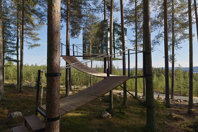 high tech glamping holiday ideas treehotel  harads sweden
