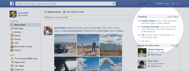 Facebook debuts Twitter-esque 'Trending' feature, highlights popular conversations