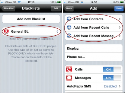 how to block a call from iphone