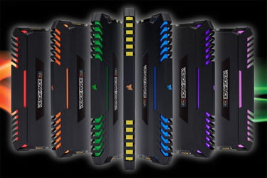 Corsair's Colorful New Vengeance RGB DDR4 Memory Kits Are Now