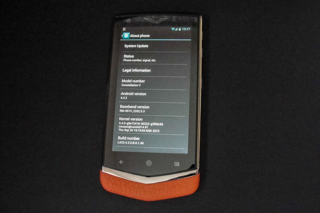 vertu constellation review front android about phone