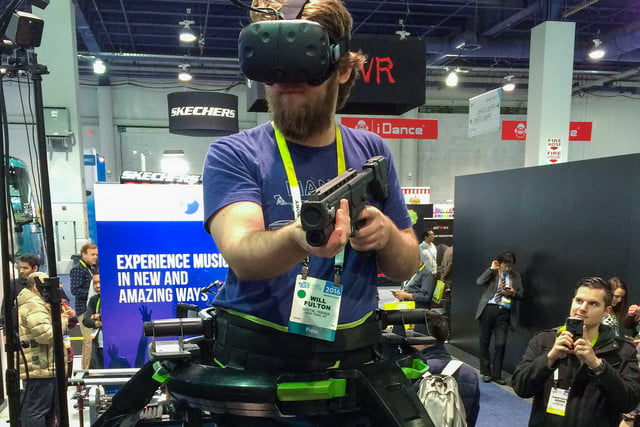 Virtuix Omni Hands-on: Walk across virtual worlds from the comfort of your living room