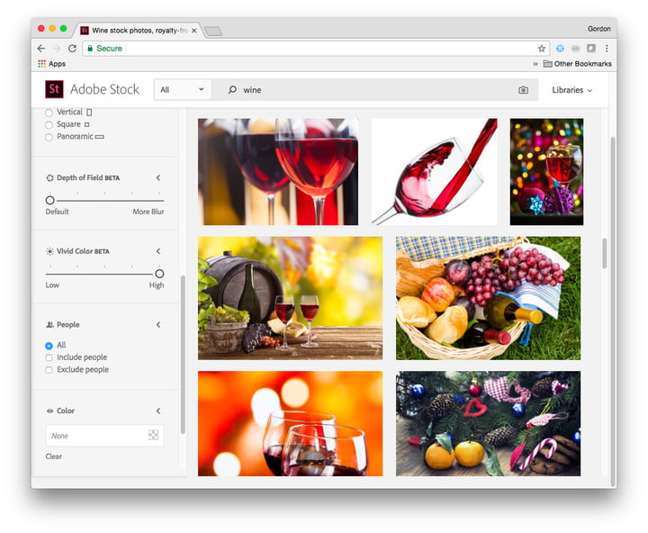 adobe stock editorial aesthestic search powerpoint vivid color high